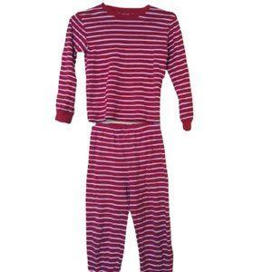 Red White Striped Pajamas Boy Size 8